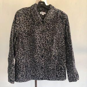 Denim & Company Leopard Jacket